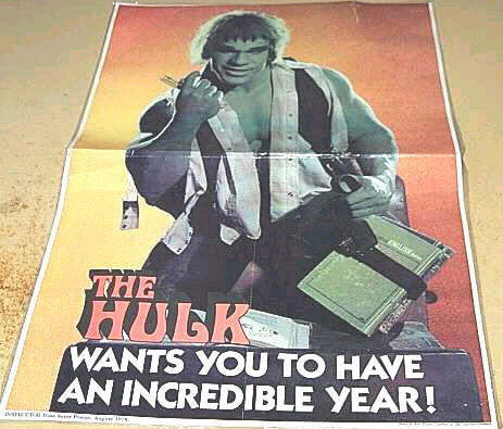 BACK TO SCHOOL HULK RETRO POSTER