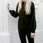 By Signe organic cotton bell-sleeve sweatshirt sustainable fashion womenswear made in Denmark front view