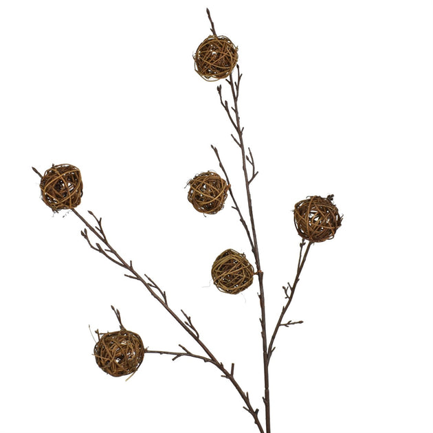 "38"" Natural Twigs Ball Spray"