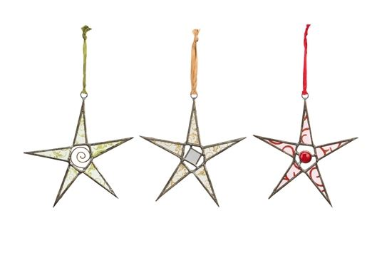 Glass Star Ornaments