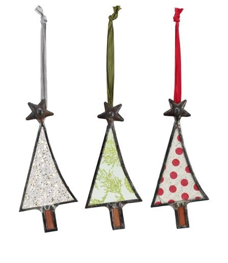 Glass Tree Ornaments