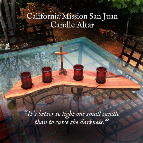 California Mission San Juan Candle Altar