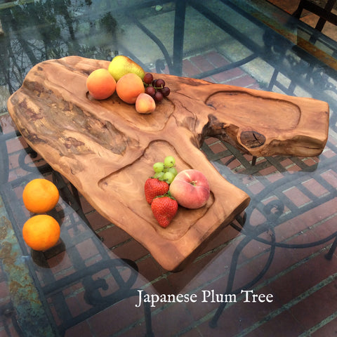 Japanese Plum Tree Sculptured Serving Tray