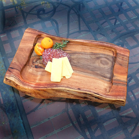 Single Tray Acacia Wood Serving Board
