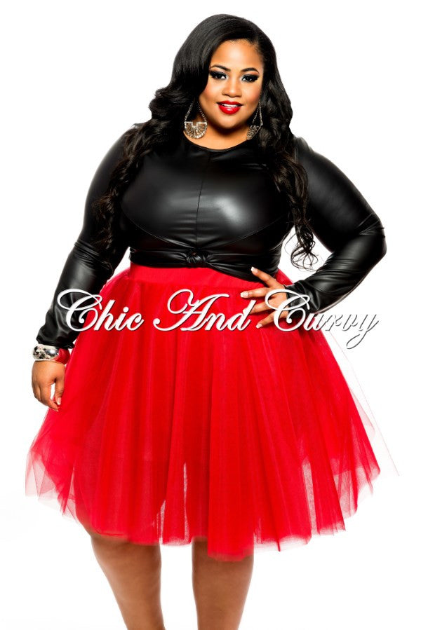 Final Sale Plus Size TuTu Skirt in Red