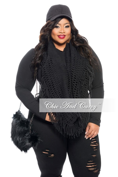 Final Sale - The Total Package: Hat, Scarf and Purse Black