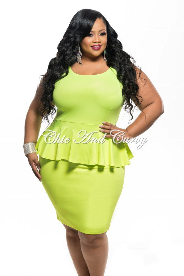 Bright Yellow Plus Size Dresses – Fashion dresses