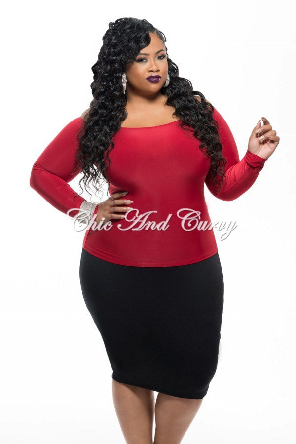 4c57c8432d9ae 50% Off Sale - Final Sale Plus Size Long Sleeve Off The Shoulder Top i –  Chic And Curvy
