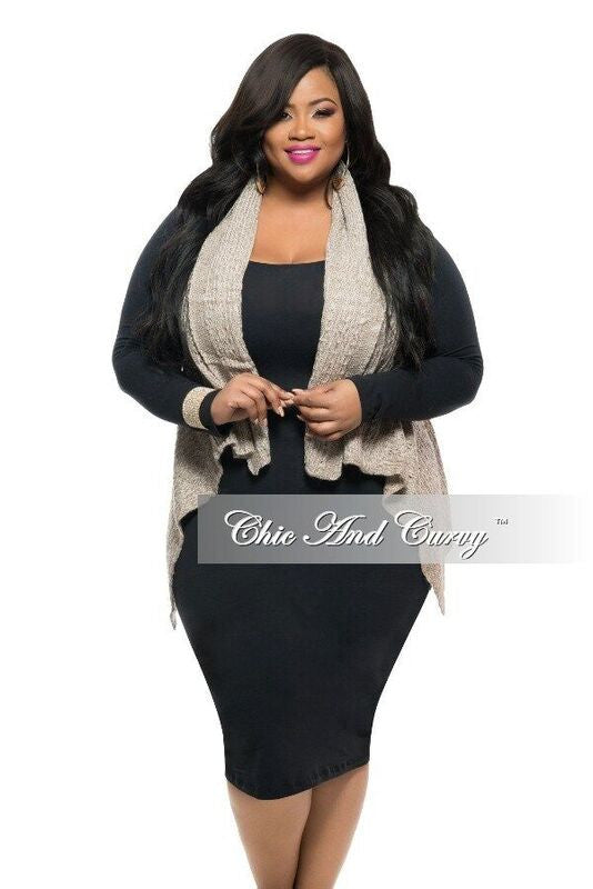 New Plus Size Sweater Vest in Biege One Size