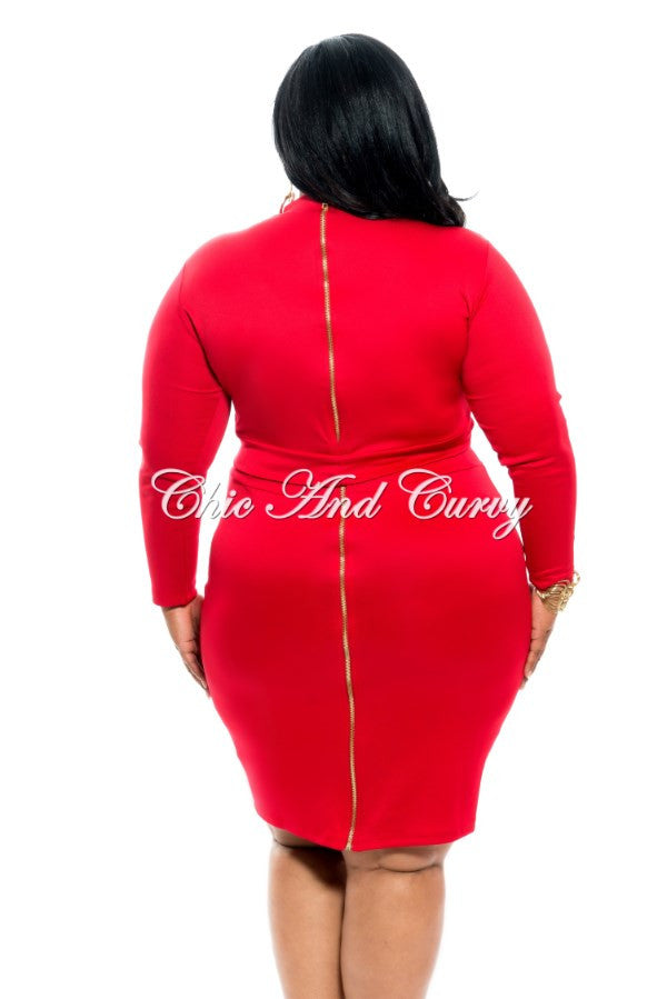 New Plus Size 2 Piece Set Long Sleeve Crop Top And Pencil