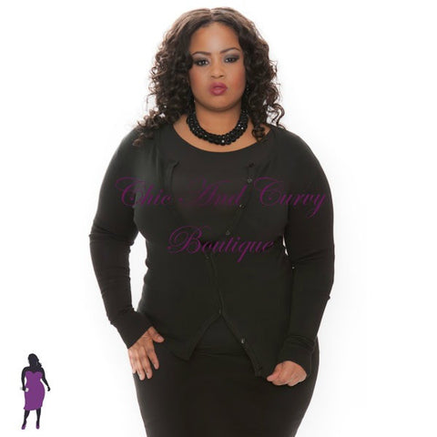 Final Sale Plus Size Chiffon Cardigan in Green, Magenta,Orange and Black