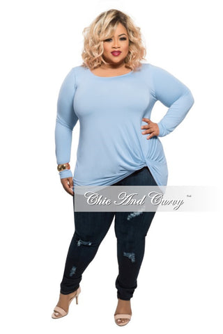 Final Sale Plus Size Leotard with Choker Neck and Long Sleeves in Black