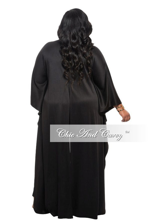 Final Sale Plus Size 2-Piece Crop Top with Tail and Pant Set in Black