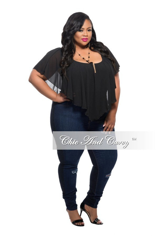 New Plus Size Off the Shoulder Top in Black – Chic And Curvy