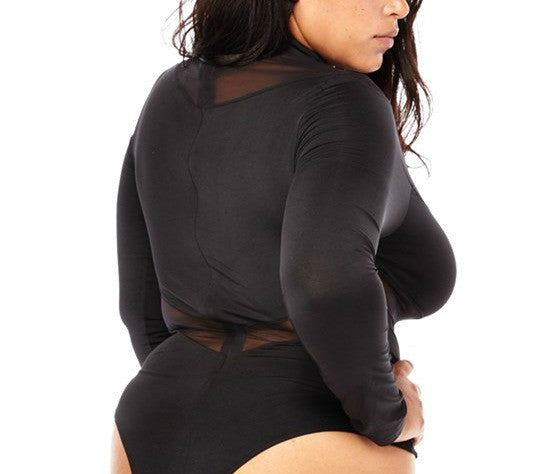 69371ef40cf 35% Off Sale - Final Sale Plus Size Leotard with Mesh Cutouts in Off White