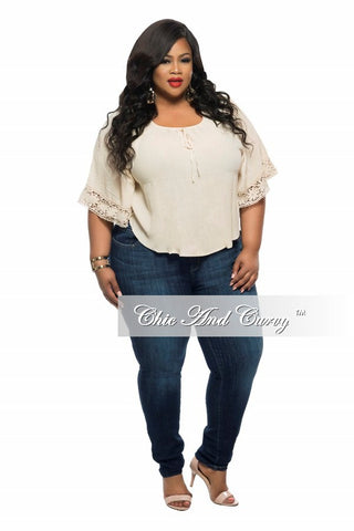 New Plus Size Cargo Jeans in Denim