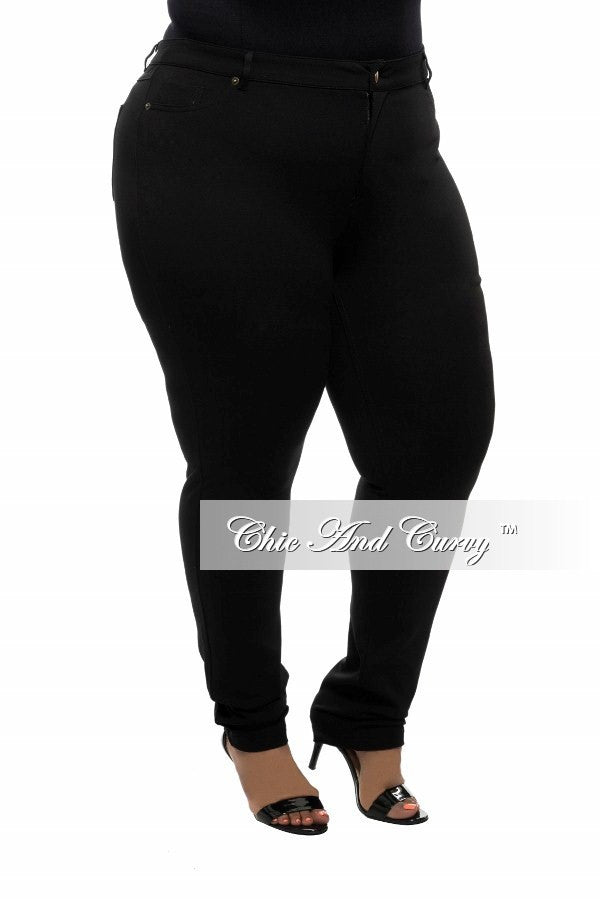 New Plus Size Denim Jeans in Black
