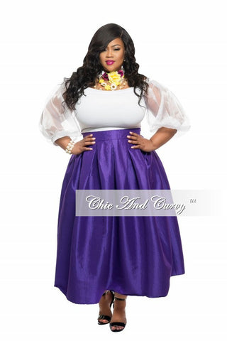 New Plus Size Skirt in Purple