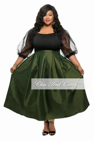 New Plus Size Skirt in Green