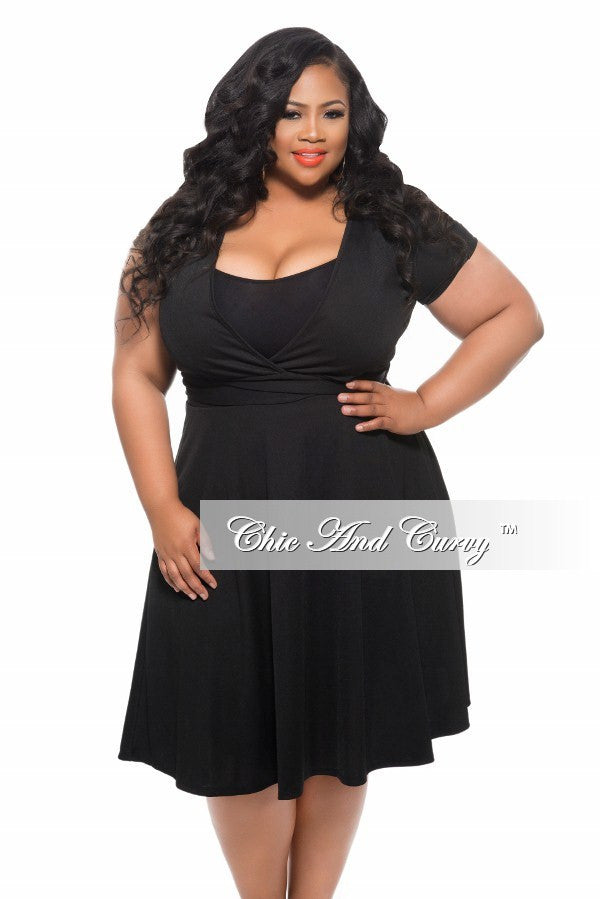 Final Sale Plus Size 2-Piece Set with Short Sleeve Crop Top and ...