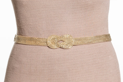 Final Sale Plus Size Gold Chain Belt with Front Loop