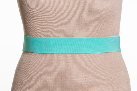 Final Sale Plus Size Elastic Band/Gold Latch Buckle in Mint
