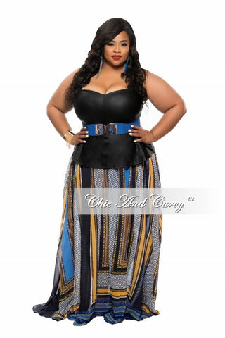 Final Sale Plus Size Strapless Corset Top in Black
