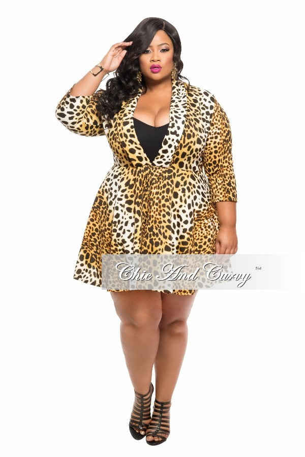 New Plus Size Skater Dress in Animal Print – Chic And Curvy