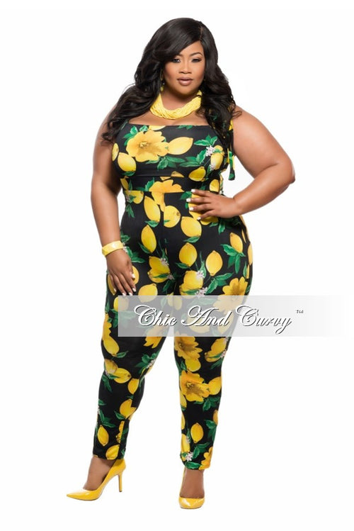 New Plus Size Jumpsuit in Lemon Print
