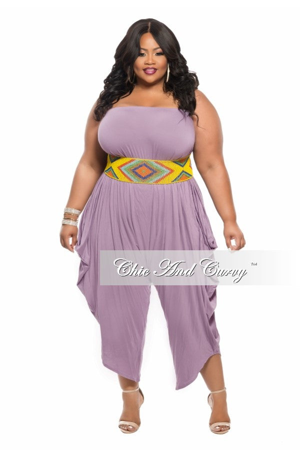69afdb88c3b New Plus Size Strapless Harem Jumpsuit in Lilac Purple – Chic And Curvy