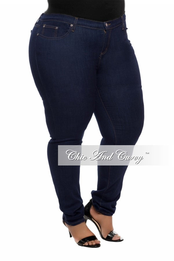 Final Sale Plus Size Denim Jeans in Blue