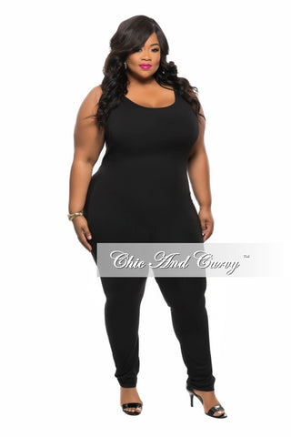 Final Sale Plus Size Sleeveless BodySuit in Black