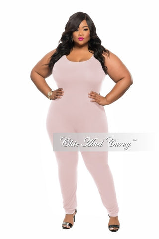 Final Sale Plus Size Long Sleeve BodySuit/Jumpsuit in Olive Green