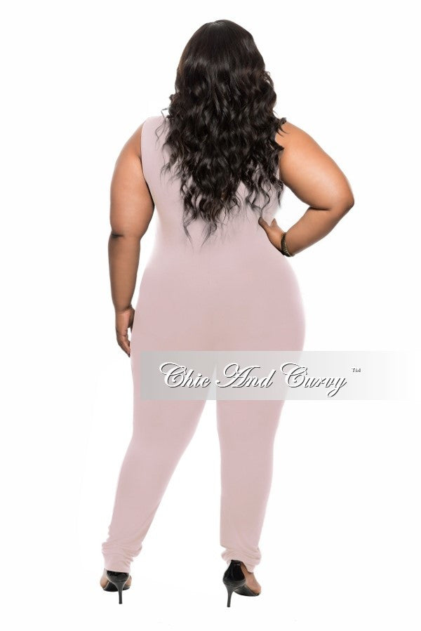 Final Sale Plus Size Sleeveless BodySuit in Rose Pink