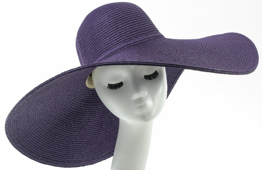 Final Sale Wide Brim Sun Hat in Purple