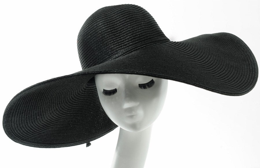 Final Sale Wide Brim Sun Hat in Black