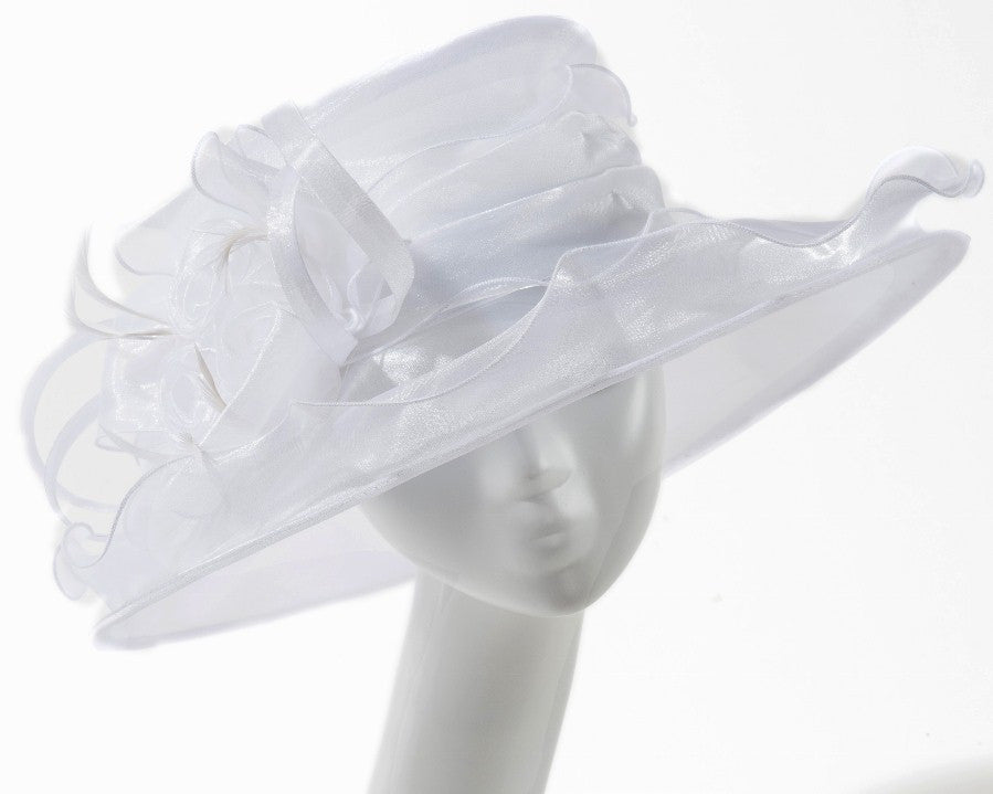 Final Sale Summer Dressy Hat in White