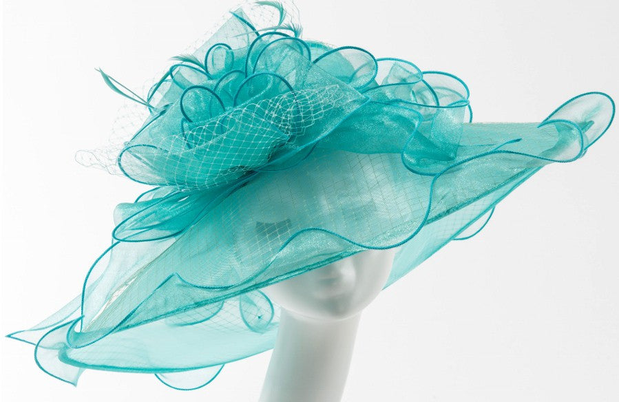 Final Sale Summer Dressy Hat in Turquoise