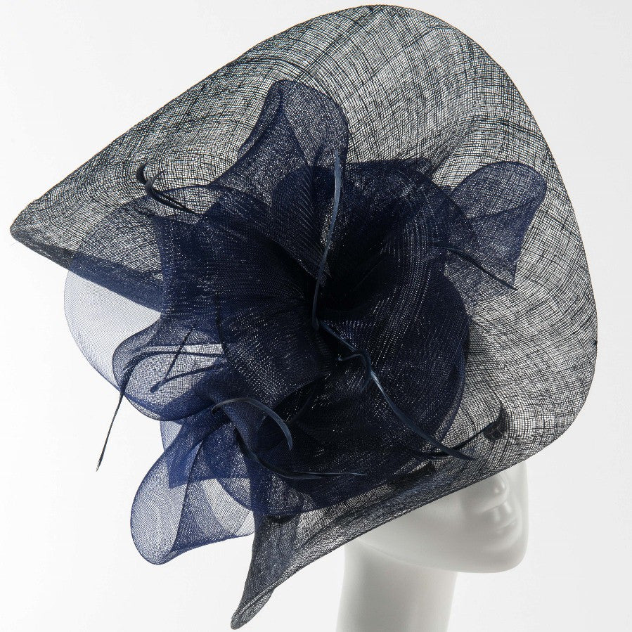 Final Sale Summer Dressy Fascinator Hat in Navy