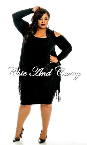 New Plus Size Black 80's Jacket in Black
