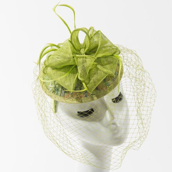 Final Sale Fascinator Hat with Bow in Lime Green – Chic And Curvy 928b3fd4d59