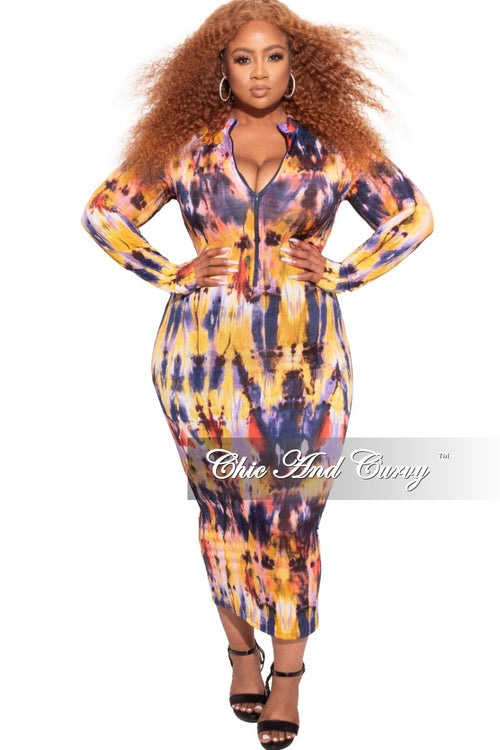 *Final Sale Plus Size BodyCon in Multi-Color Print