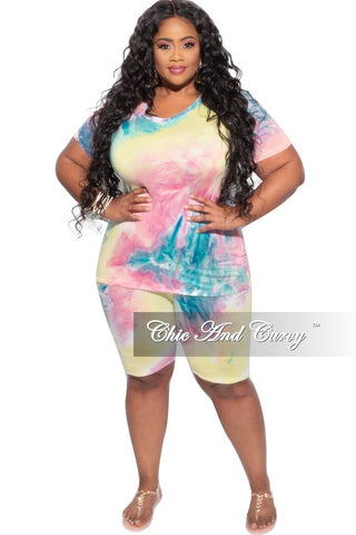New Plus Size 2 pc Set Top & Pants in Purple / Mauve Multi-Color Print