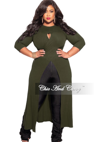 Final Sale Plus Size 2-Piece Top & Skirt Set in Black Ribbed Fabric