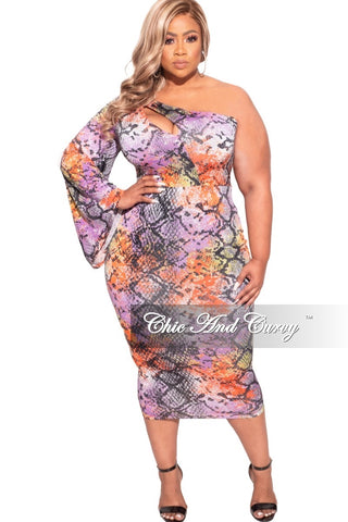 Final Sale Plus Size Bodycon Dress with Drawstrings in License Plates Print