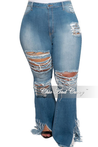 Final Sale Plus Size Distressed Denim Girlfriend Jeans