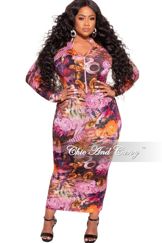 Final Sale Plus Size One Sleeve Dress in Black