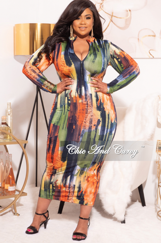 Final Sale Plus Size Sheer Organza Puffy Sleeve Bodycon Dress in Yellow