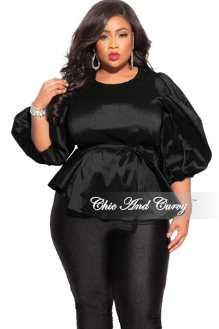 Final Sale Plus Size Turtleneck Top in Black