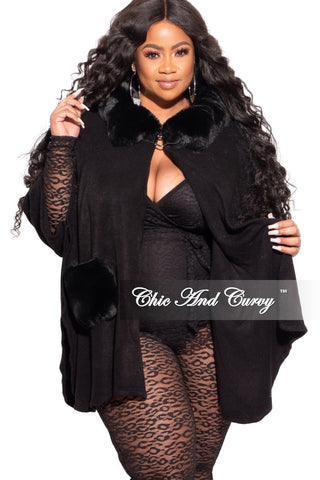 Final Sale Plus Size Long Sleeve Ribbed Top with Puffy Sleeves in Black with Animal Print